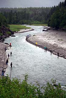 Combat fishing near Anchorage