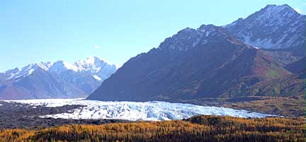 Matanuska Glacier in the fall