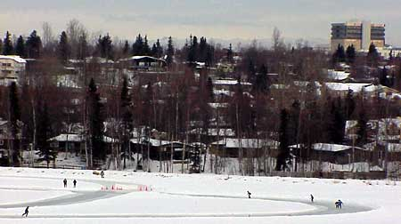 Skaters on Westchester Lagoon